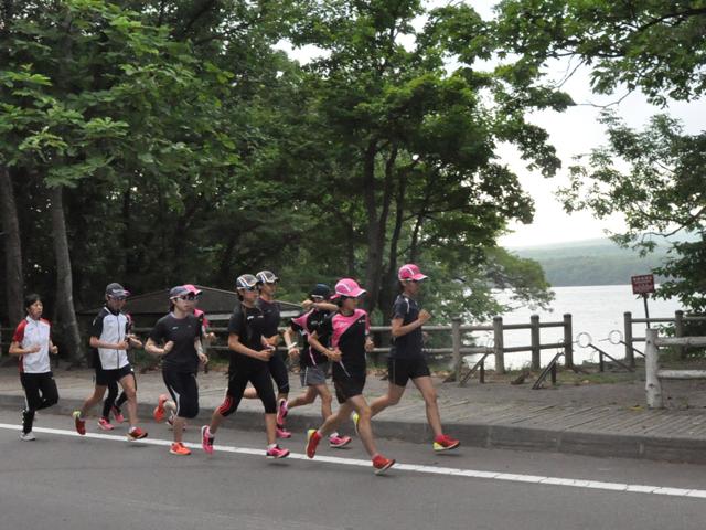 七飯町大沼湖畔周回コース 13.8km